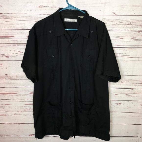 Monte Carlo Other - Monte Carlo Black Button Up Shirt Size XL